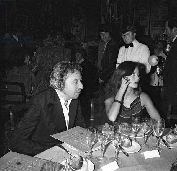 Serge Gainsbourg and his new girlfriend Bambou, Casino in Enghien, 13 October  1981 (photo)