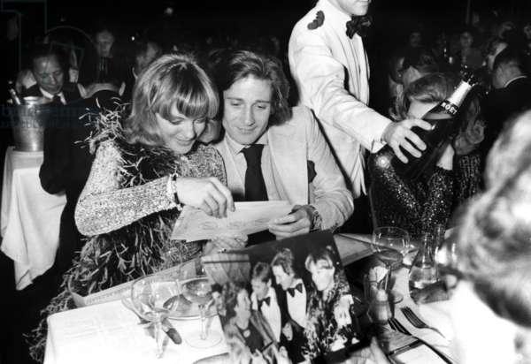 Romy Schneider and her husband Daniel Biasini at the Lido, Paris, 19 May 1975  (photo)
