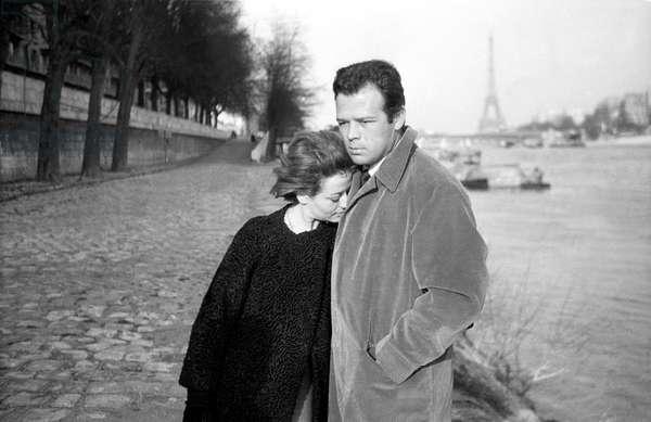 Actors Annie Girardot and Renato Salvatori, Paris, 1960 (photo)
