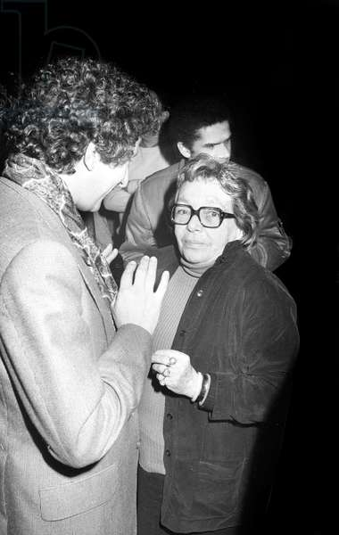 Marguerite Duras at Ingrid Caven's Concert at the Palace, Paris, 20 March 1980 (photo)