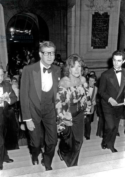 Yves Saint Laurent and Suzanne Quoirez (Francoise Sagan's sister) at Rudolf Noureev Night at the Opera in Paris,  11 March 1981  (photo)