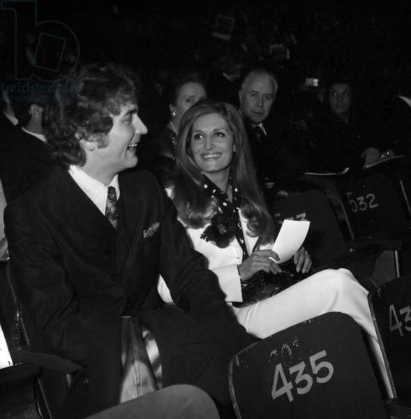 "Dalida and opera Singer Richard Stilwell at the Premiere of the Ballet ""Nijinski Clown de Dieu"", Paris, 12 January 1972 (photo)"