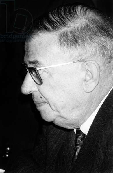 French writer Jean Paul Sartre, Paris, 16 March 1964 (photo)