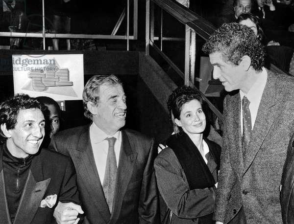 "Premiere of the film ""Itineraire d' un Enfant Gate"" with Jean-Paul Belmondo, Richard Anconina and Claude Lelouch, 29 November, 1988 (photo)"