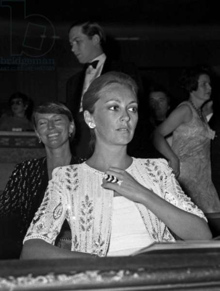 """Princess Paola of Belgium at the Premiere of the ballet """"La Traviata"""" by Maurice Bejart, 13 September 1973 (photo)"""