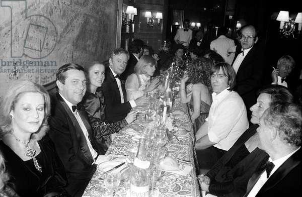 Catherine Deneuve, Yves Montand, Kim Novak and Gerard Depardieu at Fouquet's Restaurant for the Cesars, Paris, 31 January 1981 (photo)