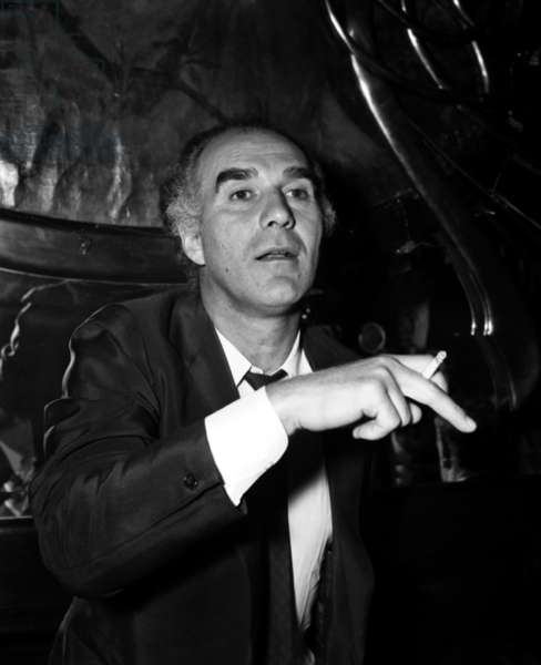 """Michel Piccoli at Dinner for the Premiere of the film """"Max et les ferrailleurs"""", 16 February 1971 (photo)"""