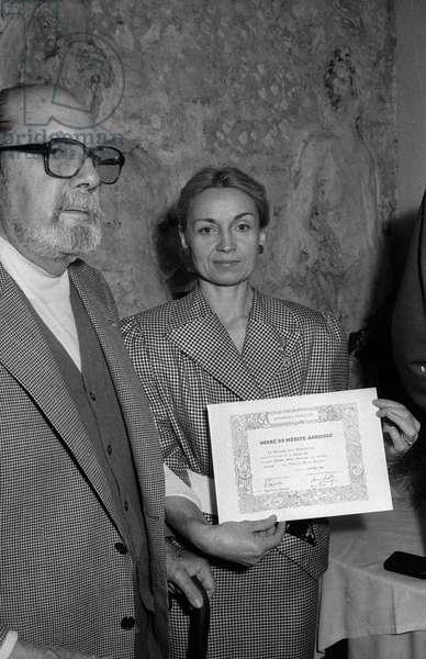 Raymond Oliver et Christiane Massia