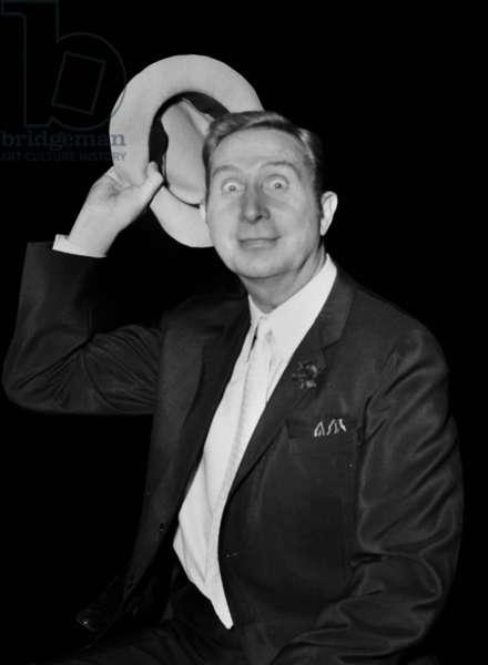 """Charles Trenet, TV Programme """"Palmares des Chansons"""", 20 April 1967 (photo)"""
