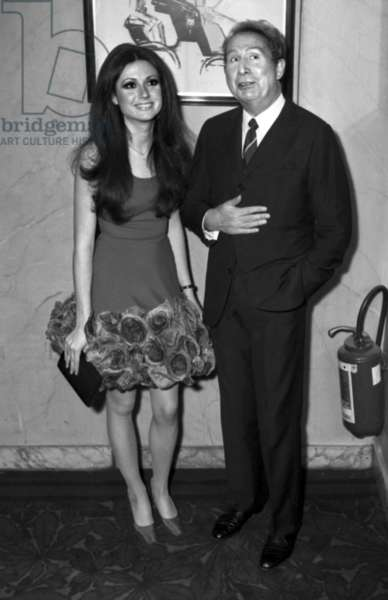 Young Italian Singer Gigliola Cinquetti with Charles Trenet, 28 April 1971 (photo)