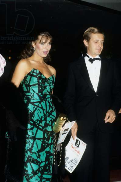 Princess Caroline of Monaco and her husband Stefano Casiraghi at the concert of Frank Sinatra, the Moulin Rouge, Paris, 25 September 1984 (photo)