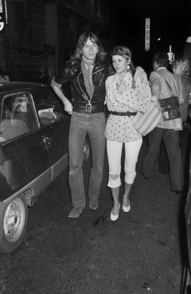 French Singer Renaud (Renaud Sechan) and his first wife Dominique arriving at the Premiere of Yves Montand at the Olympia, Paris, 13 January 1981 (photo)