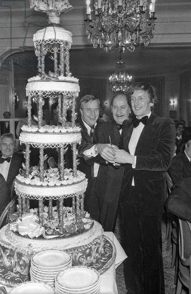 Franco Zeffirelli and Claude Rich (b/w photo)