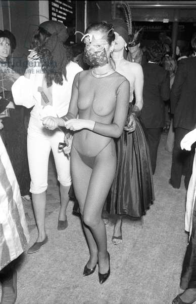 Eva Ionesco at the 20th anniversary of the Palace organised by Karl Lagerfeld, 26 octobre 1978 (photo)