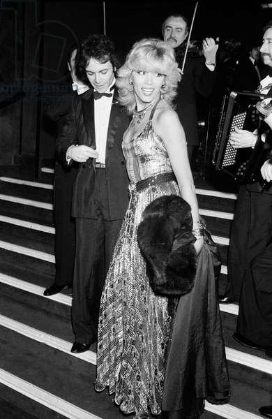 Amanda Lear and her husband Alain Philippe Malagnac d'Argens de Villele, UNICEF Gala, Moulin Rouge, Paris, 31 January 1980 (photo)