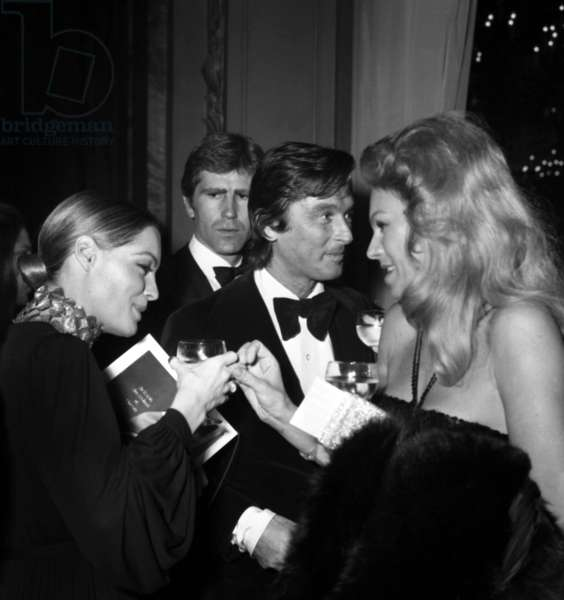 Romy Schneider, Robert Evans and Odile Rodin at the Premiere of the film
