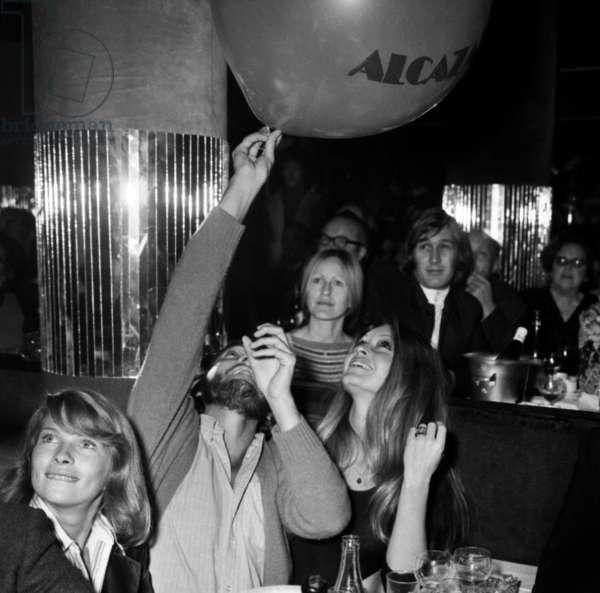 Laurent Verges et Birgitte Bardot at the Alcazar, Paris, 14 November 1972 (photo)