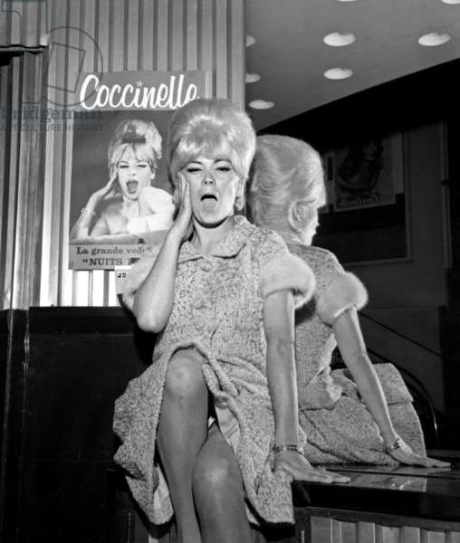 The Premiere of Coccinelle (transsexual comedian and singer, Jacques-Charles Dufresnoy), Olympia, Paris, 2 June 1963 (photo)