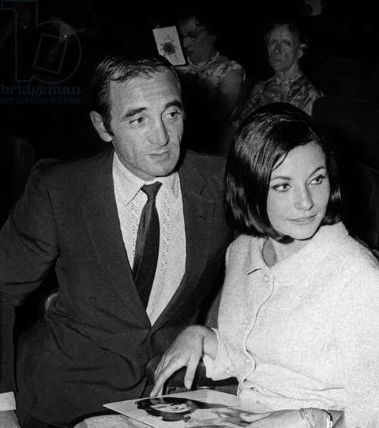 Charles Aznavour at the Premiere of Dalida at the Olympia, Paris, 3 September 1964 (photo)