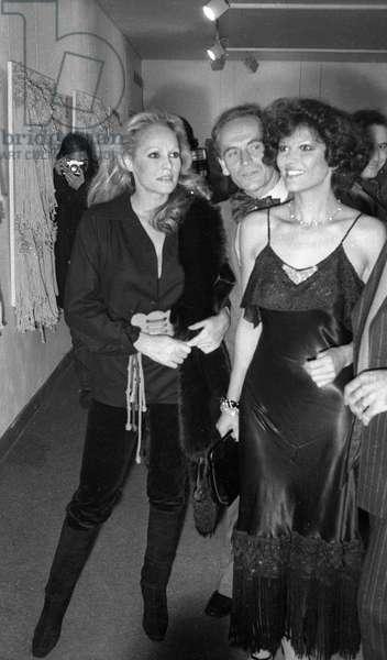 Ursula Andress, Pierre Cardin et Claudia Cardinale