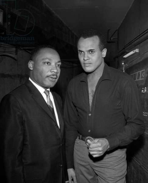 Martin Luther King and Harry Belafonte at Belafonte Concert, Paris, 28 March 1966 (photo)