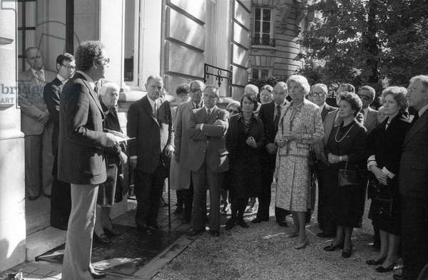 Inauguration d'un plaque a la memoire de Maria Callas
