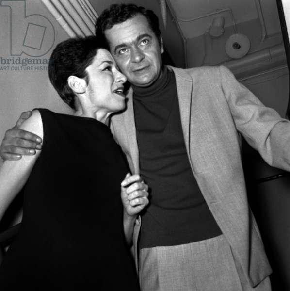 Catherine Sauvage and Serge Reggiani, 1967 (photo)