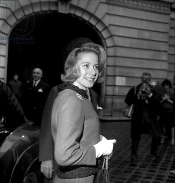 Athina (Tina) Livanos Onassis Spencer-Churchill Niarchos (Stavros Livanos' daughter) the day of her second wedding with John Spencer-Churchill (Marquess of Blandford), Paris, 23 October 1961 (photo)