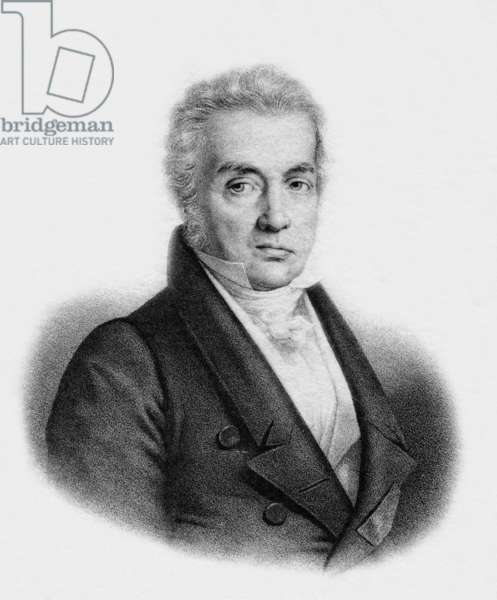 Portrait of the french painter Jacques-Louis David (1748 1825) (engraving)