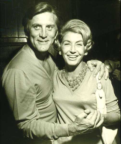 Actor Kirk Douglas with wife Anne in 1976