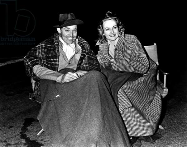 Clark Gable and his wife Carole Lombard c. 1940