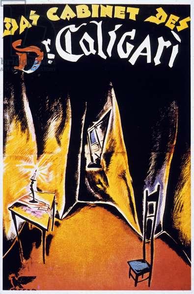 Affiche du film Le cabinet du Docteur Caligari CABINET OF DR. CALIGARI (aka DAS KABINETT DES DOKTOR CALIGARI) de RobertWiene avec Conrad Veidt, Lil Dagover, 1920
