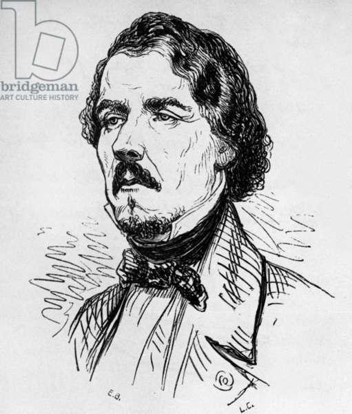 Eugene Delacroix (1798-1863) French romantic paper, engraving