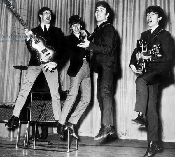The Beatles : Paul McCartney, Ringo Starr, John Lennon and George Harrison in 1963
