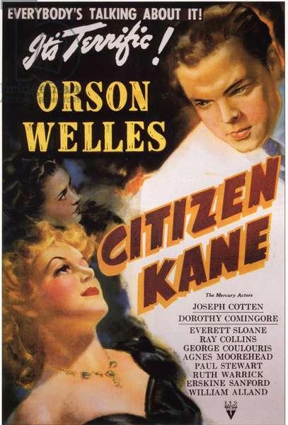 Affiche du film Citizen Kane de OrsonWelles avec Orson Welles, 1941