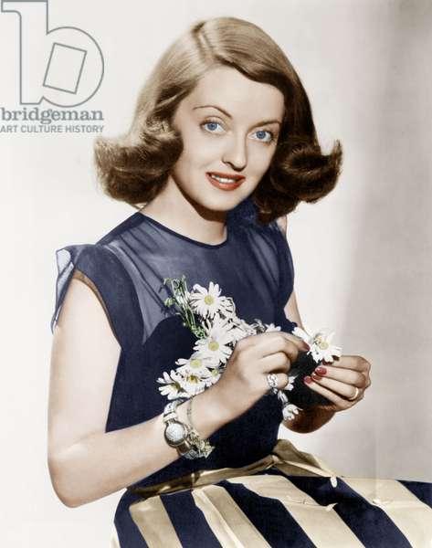 American Actress Bette Davis (1908-1989) c. 1942
