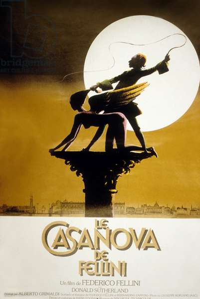 Affiche du film Le Casanova de Fellini de Federico Fellini avec Donald Sutherland (dans le role de Casanova) 1976