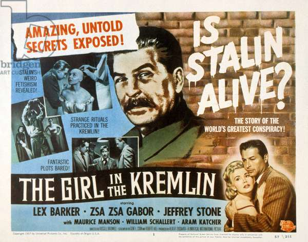The girl in the Kremlin de RussellBirdwell avec William Schallert et Zsa Zsa Gabor 1957