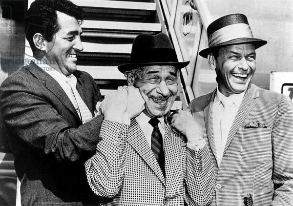 Dean Martin, Mike Romanoff and Frank Sinatra in 1961