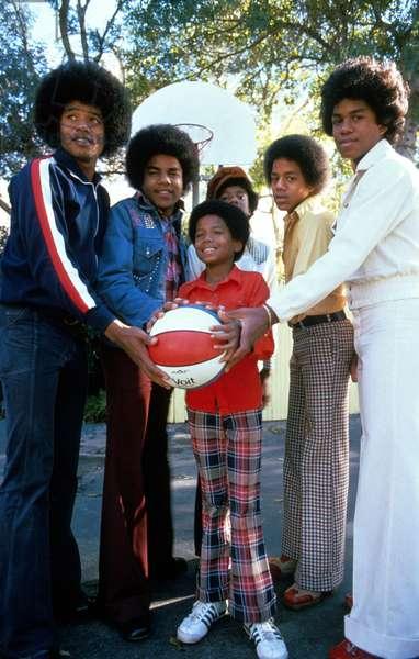 Jackson Five : l-r : Tito, Jermaine, Michael, Marlon, Jackie 1968
