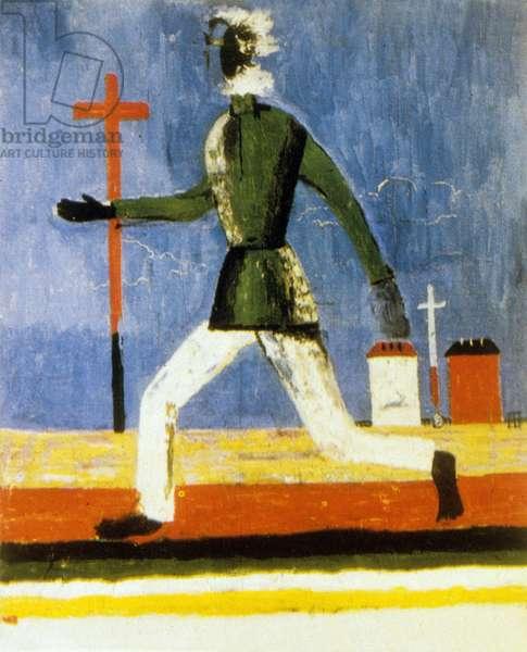 The Running Man, 1933 (oil on canvas)
