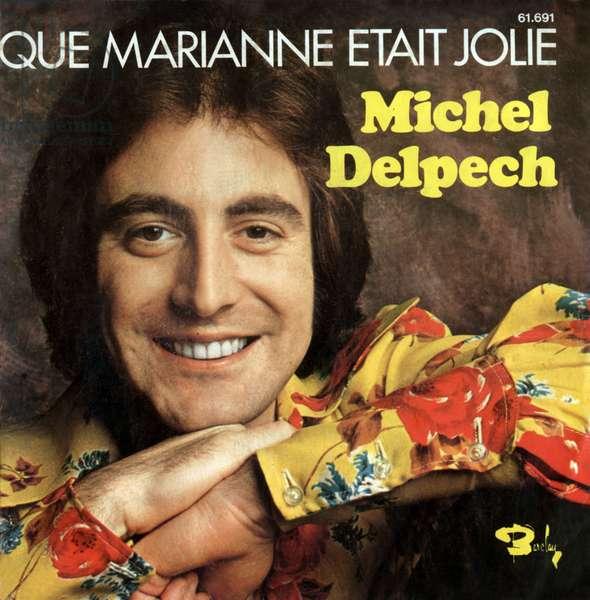 """Michel Delpech 1972 """"Qué marianne etait jolie"""" vinyl record sleeve"""