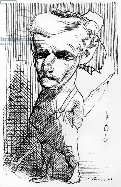 William Faulkner (1897-1962) American writer, drawing by David Levine