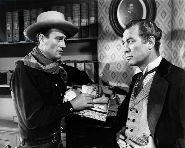 John Wayne et Ward Bond dans Tall in the Saddle