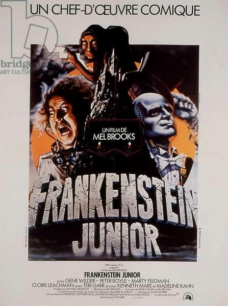 """Affiche du film """"Frankenstein Junior"""" 1974 de MelBrooks avec Peter Boyle et Madeline Kahn"""