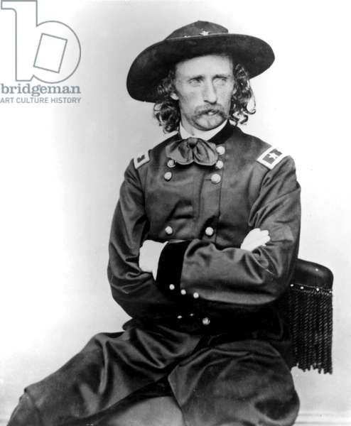 General George Armstrong Custer (1839-1876) Civil War General, he took part in Little Big Horn battle in 1876, here c. 1865