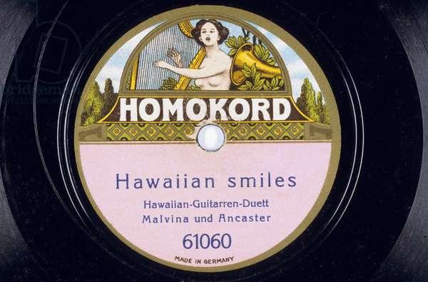 Vinyl Record: Hawaiian smiles duo of Hawaiian guitars Malvina and Ancaster NÁ 61060