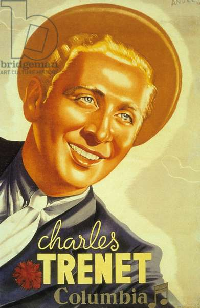 Poster by Charles Trenet. Columbia