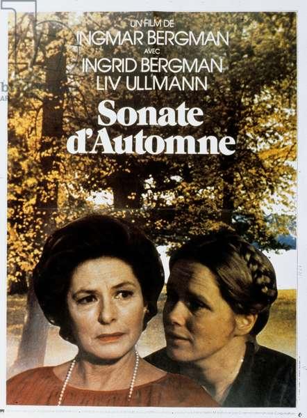 Affiche du film Sonate d'automne de IngmarBergman avec Liv Ullmann et Ingrid Bergman 1978