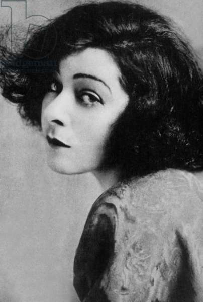 Alla Nazimova, born Mariam Edez Adelaida Leventon, (1879 - 1945), Russian and American Actress, one of the most famous of silent movies.